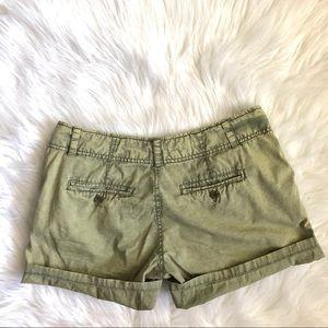 [1st] Burnout Olive Green Shorts